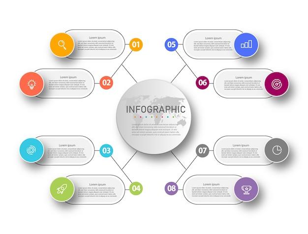 Presentatie infographic sjabloon