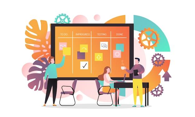 Presentatie met bedrijfspaneel