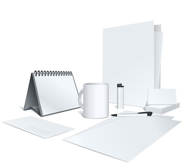 Presentatie van uw huisstijl. illustratie. lege sjabloon op wit.