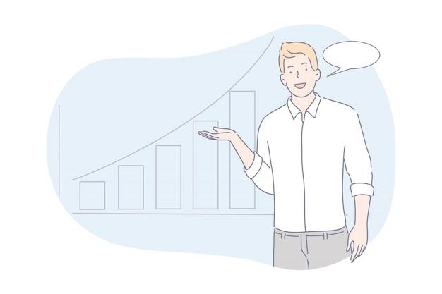 Presentatie van zakelijk projectconcept