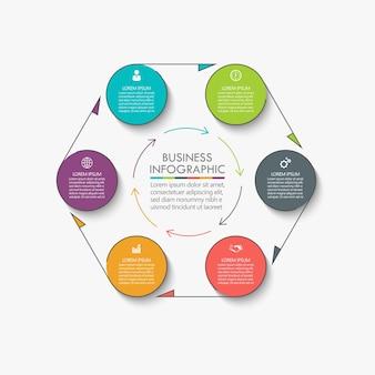 Presentatie zakelijke cirkel