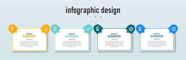 Presentatie zakelijke infographic ontwerpsjabloon met 4 opties