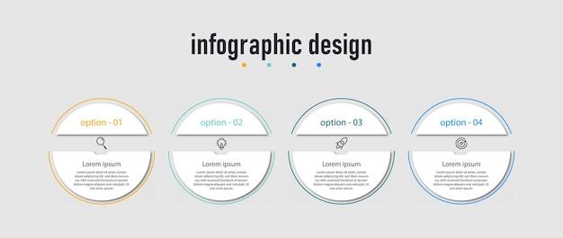 Presentatie zakelijke infographic ontwerpsjabloon