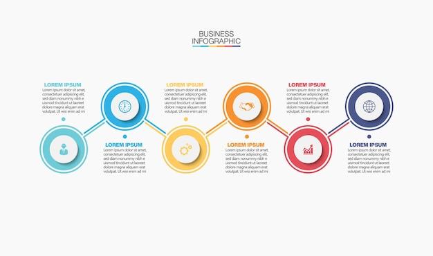 Presentatie zakelijke infographic sjabloon met opties