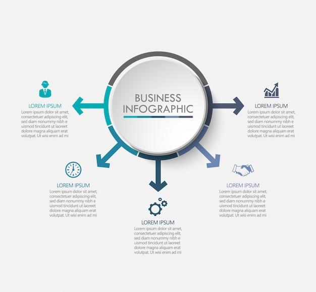 Presentatie zakelijke infographic sjabloon