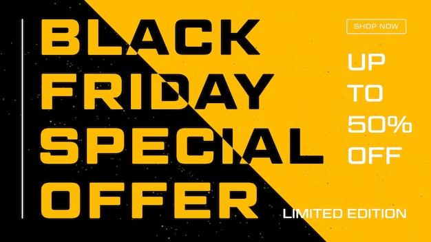 Presentatiesjabloon met zwarte vrijdag voor flyerontwerp. cover sjabloon. website sjabloonontwerp. kortingsbon. zwarte vrijdag verkoop.