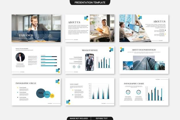 Presentatiesjabloon voor bedrijfsdia's