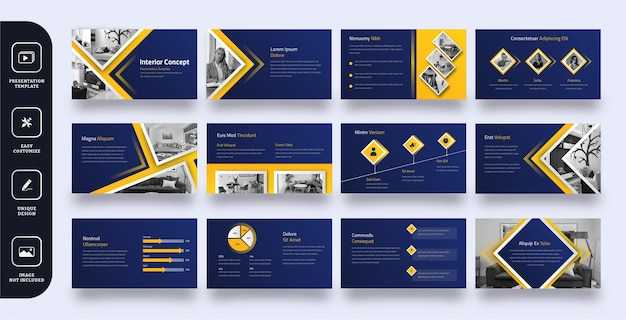 Presentatiesjabloon voor moderne zakelijke dia's