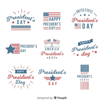 President's day badge set