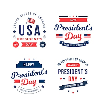 President's day badges ingesteld