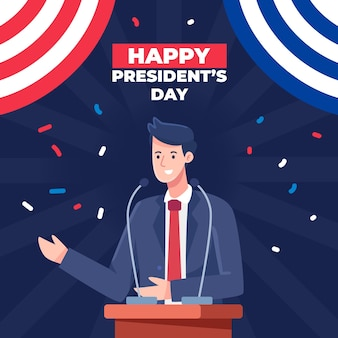 President's day concept in plat ontwerp
