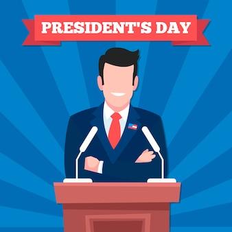 President's day-evenement met man die een toespraak houdt