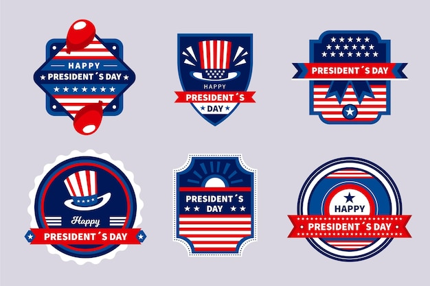 President's day label badge set