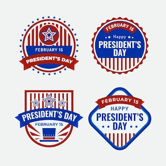 President's day label ingesteld