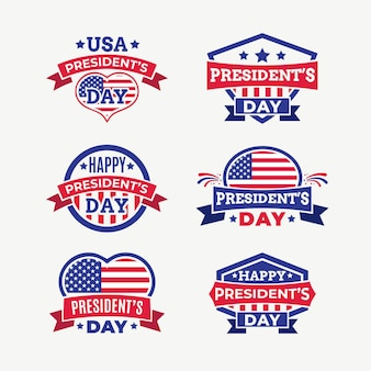 President's day labels pack