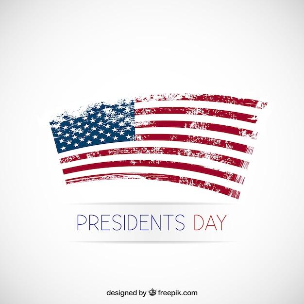 Presidenten dag achtergrond met grunge vlag