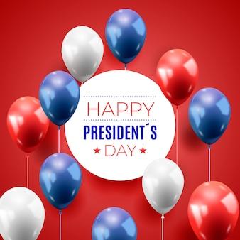 Presidenten dag met realistische ballonnen thema