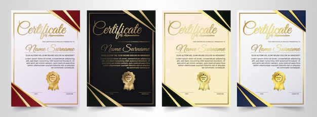 Prestatiecertificaat beste award diploma set.