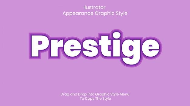 Prestige tekststijleffect