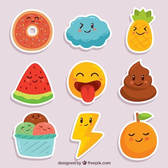 Pretpakket van smiley stickers