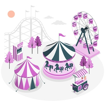 Pretpark concept illustratie
