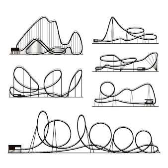 Pretpark pictogrammen