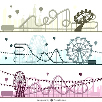 Pretpark vector set
