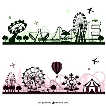 Pretpark vector skylines