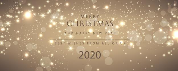 Prettige kerstdagen en een gelukkig nieuwjaar, 2020 banner