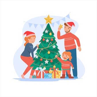 Prettige kerstdagen en een gelukkig nieuwjaar voor ouders en kinderen.
