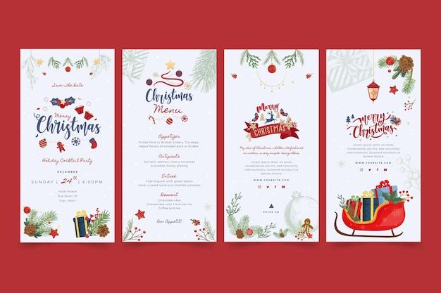 Prettige kerstdagen en fijne feestdagen instagram-verhalen