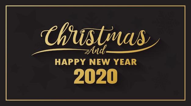 Prettige kerstdagen en gelukkig nieuwjaar 2020 banner