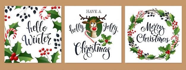 Prettige kerstdagen en gelukkig nieuwjaar 2020 witte en zwarte kleuren