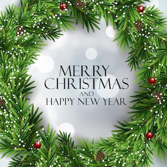 Prettige kerstdagen en gelukkig nieuwjaar achtergrond. illustratie