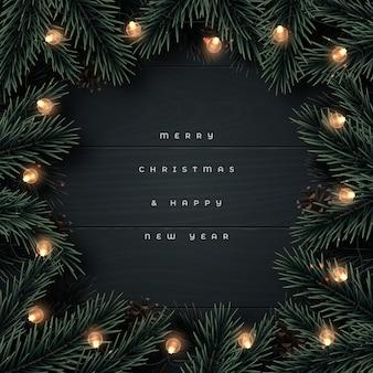 Prettige kerstdagen en gelukkig nieuwjaar achtergrond.