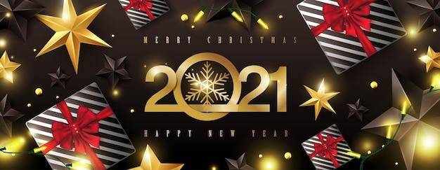 Prettige kerstdagen en gelukkig nieuwjaar achtergrondontwerp