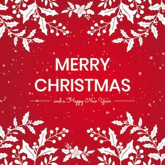 Prettige kerstdagen en gelukkig nieuwjaar berichtsjabloon