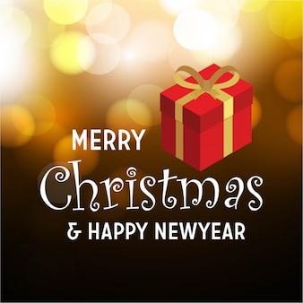 Prettige kerstdagen en gelukkig nieuwjaar cadeau-artikel achtergrond
