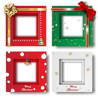 Prettige kerstdagen en gelukkig nieuwjaar frame foto