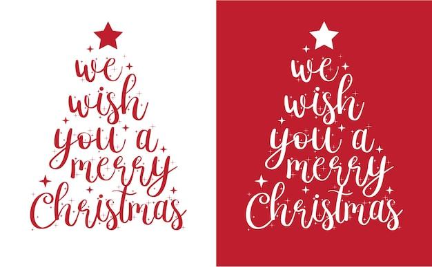 Prettige kerstdagen en gelukkig nieuwjaar hand getrokken belettering kaart ontwerp of poster achtergrond.
