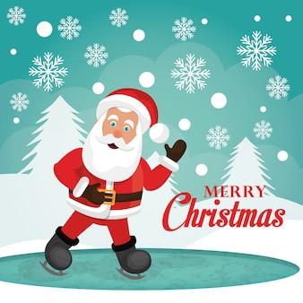 Prettige kerstdagen en gelukkig nieuwjaar kaartontwerp Gratis Vector