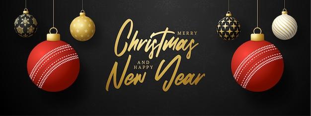 Prettige kerstdagen en gelukkig nieuwjaar luxe banner