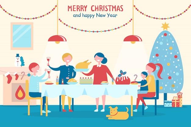 Prettige kerstdagen en gelukkig nieuwjaar met familie