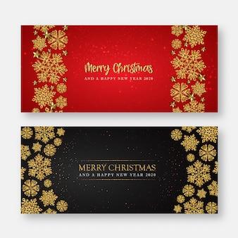 Prettige kerstdagen en gelukkig nieuwjaar wenskaart of banner