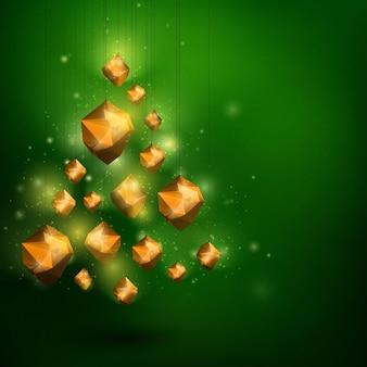 Prettige kerstdagen en gelukkig nieuwjaar wenskaart sjabloon abstracte illustratie
