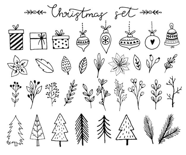 Prettige kerstdagen en gelukkig nieuwjaar wenskaarten. vector illustratie.