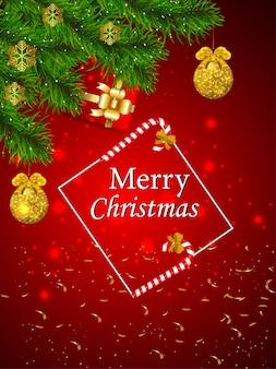 Prettige kerstdagen en gelukkig nieuwjaarsfeest flyer