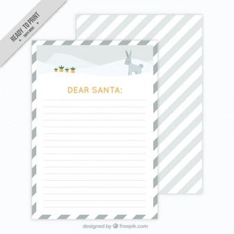 Pretty gestreepte kaart voor de kerstman