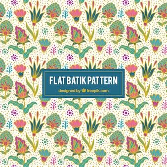 Pretty kleurrijke bloemen achtergrond in batikstijl