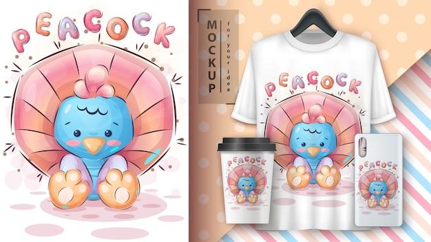 Pretty peacock - poster en merchandising